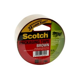 Supplier ATK Scotch 3M PB50L Brown Packaging Tape 48mm x 50m  Harga Grosir