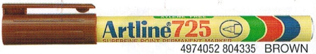Supplier ATK Artline 725 Spidol Permanent Coklat Harga Grosir