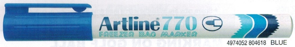 Supplier ATK Artline 770 Freezer Bag Spidol Permanent Biru Harga Grosir