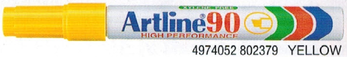 Supplier ATK Artline 90 Spidol Permanent Kuning Harga Grosir