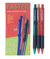 Supplier ATK Faster Ballpoint Retractable EC3 Hitam Harga Grosir