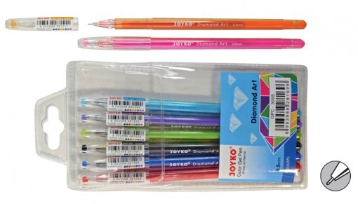 Supplier ATK Joyko Gel Pen GPC-309S (Diamond Art) 8 Warna Harga Grosir
