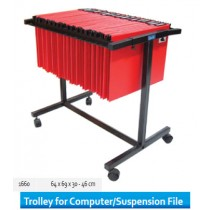 Supplier ATK Bantex 1660-10 Trolley for Computer File Black Harga Grosir