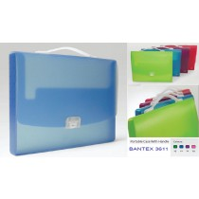 Supplier ATK Bantex 3611-21 Portable Case W/ Handle FC Lilac Harga Grosir