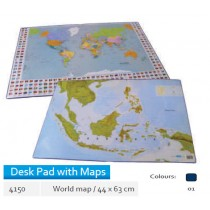 Supplier ATK Bantex 4150-01 Desk Pad with World Map 44 x 63 cm Harga Grosir