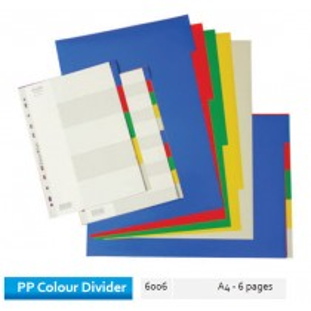 Supplier ATK Bantex 6006-00 PP Colour Divider A4 6 Divider Harga Grosir