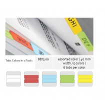 Supplier ATK Bantex 8873-00 Twin Tabs 40mm 5 Colour  Harga Grosir