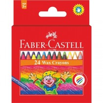 Supplier ATK Faber Castell 120057 Wax Crayon Regular 24 Pcs Harga Grosir