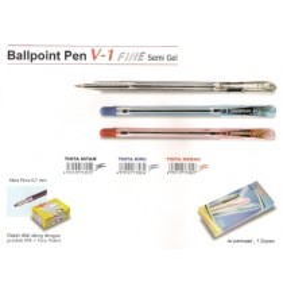 Supplier ATK Snowman Ballpoint V-1 Fine 0.7mm Harga Grosir