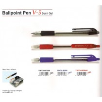 Supplier ATK Snowman Ballpoint V-5 (Retractable) 0.7mm Harga Grosir