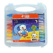 Supplier ATK TiTi Oil Pastel 18 Warna TI-P-18 (PP. Case) Harga Grosir